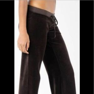 JUICY COUTURE BROWN VELOUR BOOTCUT SWEATPANTS M